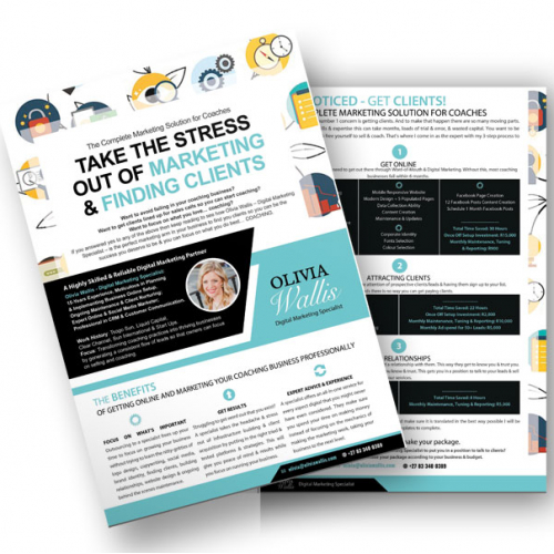 Coaching Marketing Brochure / Flyer