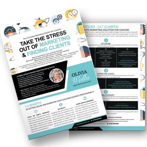 Coaching Marketing Brochure / Flyer