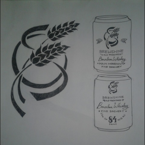 Concept For Brewshine Ultra Premium Bourbon Whiskey