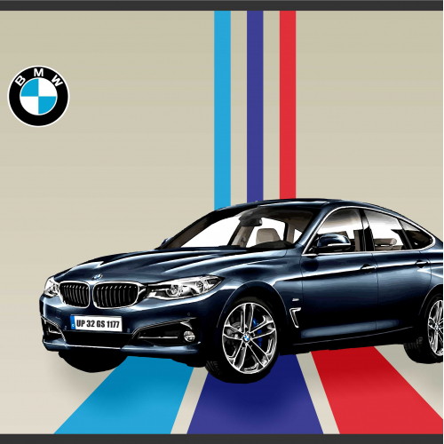 BMW 3 GT WALL POSTER