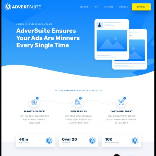 Advertsuite Sales page