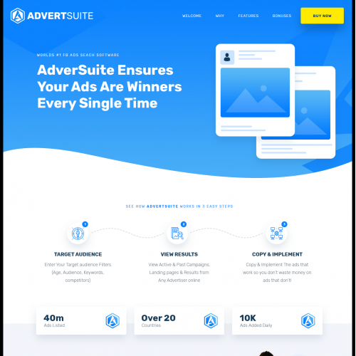 Advertsuite Sales page