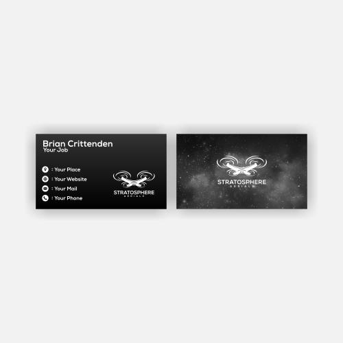 STRATOSPHERE AERIALS BUSINESS CARD