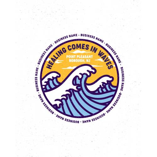 Point Boro Community Wave Logo Design