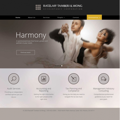 Website for accountancy firm