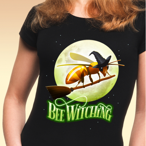 Bee Witching T-shirt Design