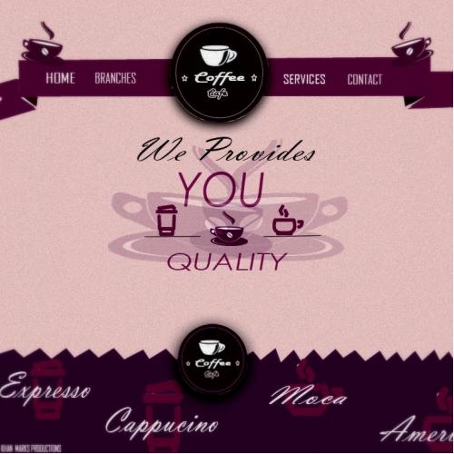 Coffee Cafe Web Template Design