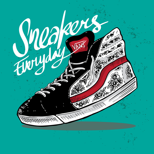 Vans Custom Shoe Illustration