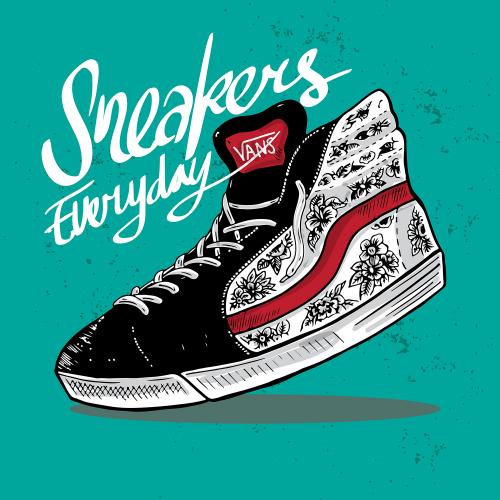Vans Custom Shoe Illustration