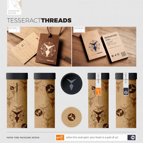 Tesseract Threads Packaging Design