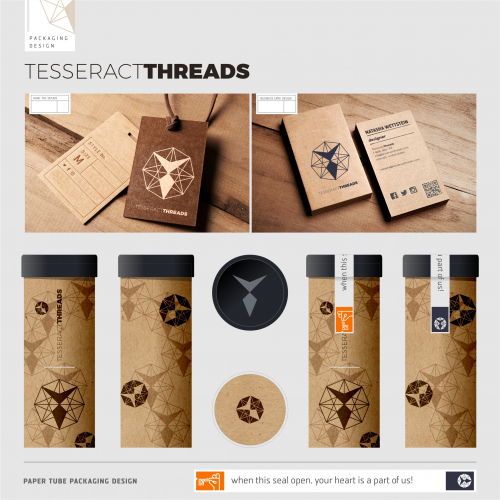 Tesseract Threads Packaging Design