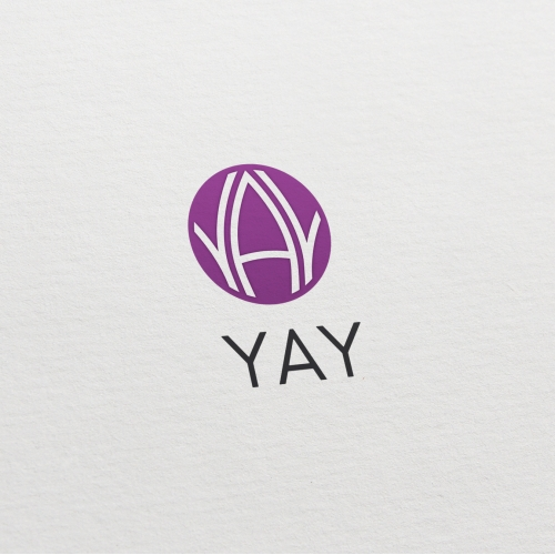 Purple logo with letters