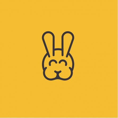 The cute rabbit