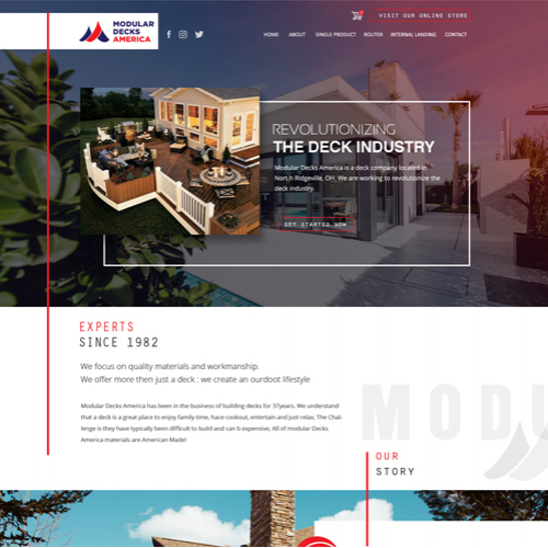 MODULAR DECK AMERICA HOME PAGE DESIGN