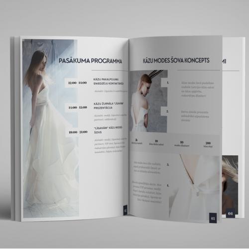 Ligavam.lv booklet design for a wedding show