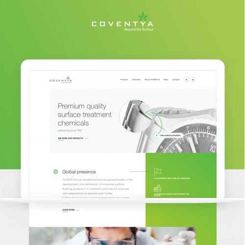 Web Design of International company - Coventya