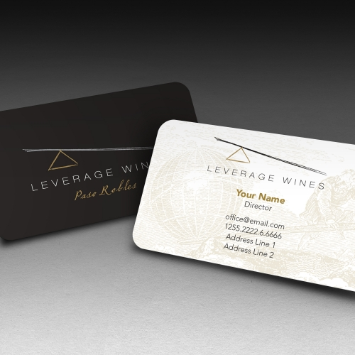 Leverage Wines Business Card Design