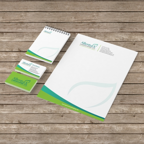 Stationery Design for Allentuck Landscaping Co