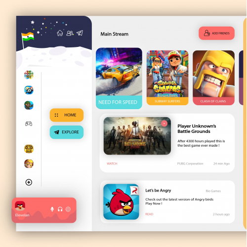 Gaming webpage