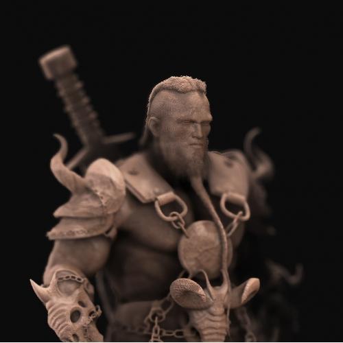 Barbarian dreadlock Clay