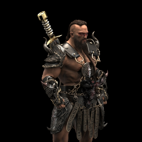 Barbarian Dreadlock full texture
