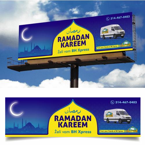 Billboard Design on Ramadan Kareem