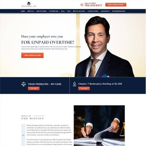 Vohwinkel Law Website Design