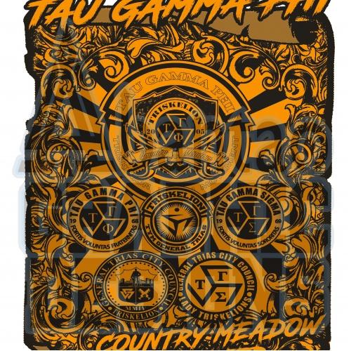 T shirt Design for Tau Gamma Phi Fraternity