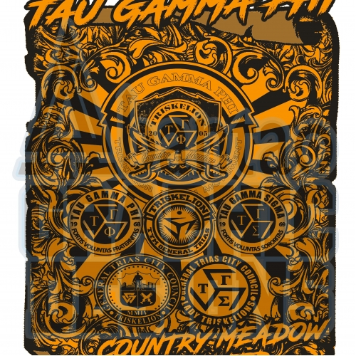 T shirt Design for Tau Gamma Phi Fraternity