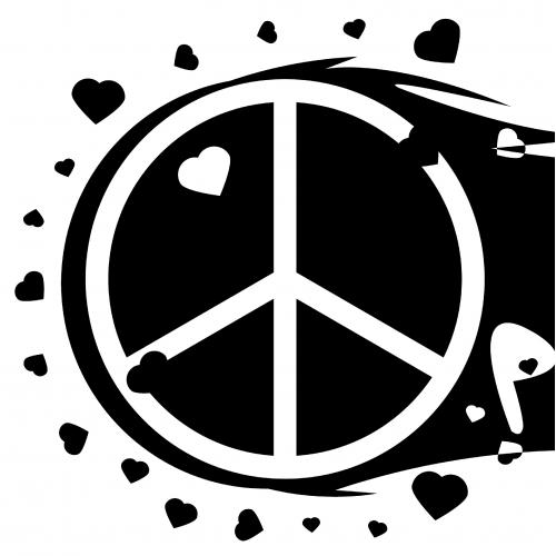 My T-Shirt Design (Peace n Love theme)