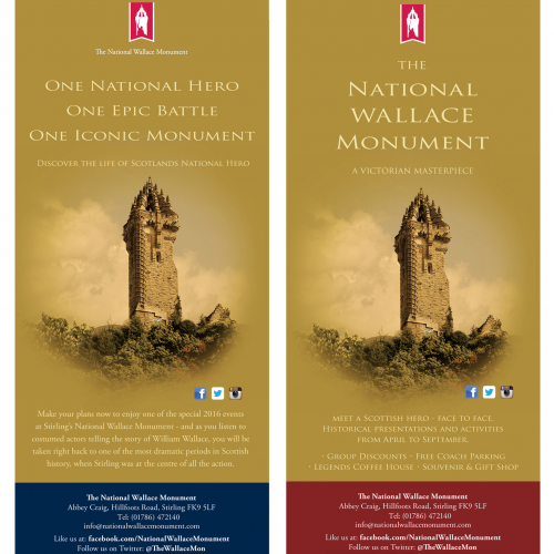 Wallace Monument advertising