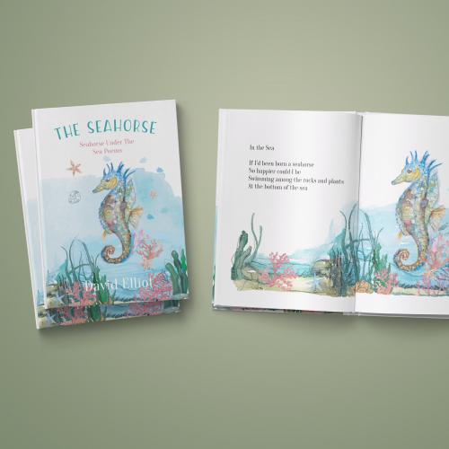 Seahorse Book Cover Design