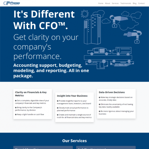 Web Design Contest CFO Simplified Landing Page