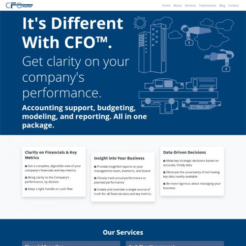 Web Design Contest CFO Simplified Landing Page