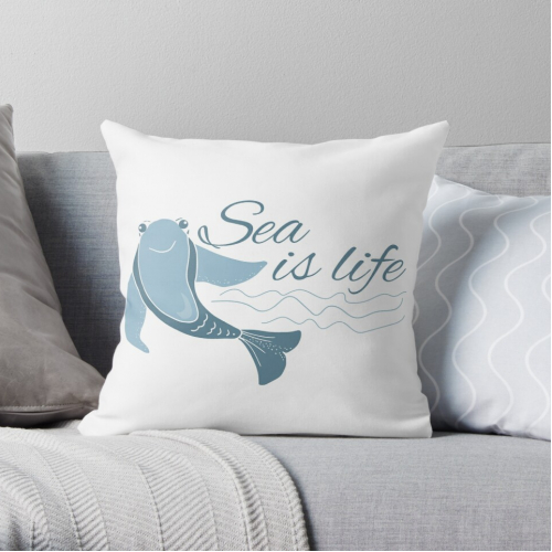 Sea is life design with fish