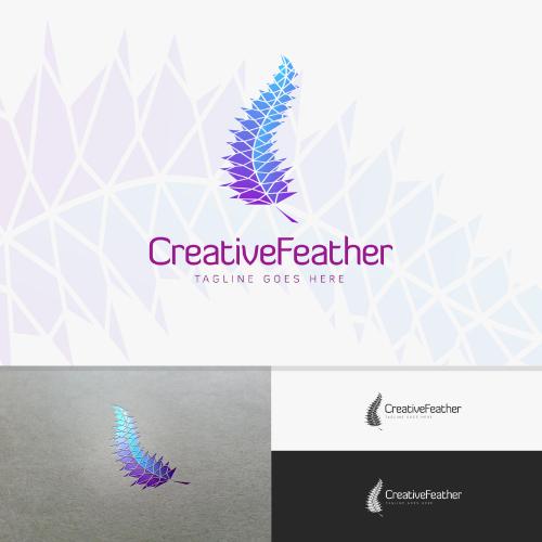 Creative Feather Logo Design
