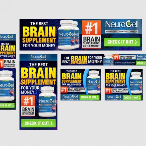 Brain Supplement Banner Ad Design