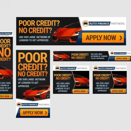 Auto Finance Partners Banner Ad Design