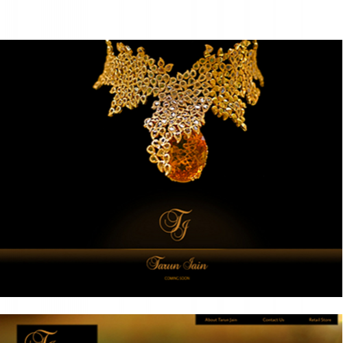 Website design concept - Tarun Jain Jewelery