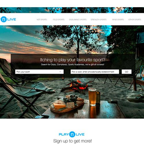 Play n Live - Website concept design