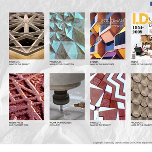 Website concept design - Odeyssey Stone Co.