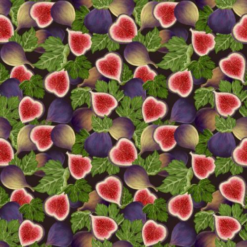 Figs fruits seamless pattern