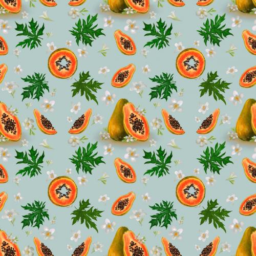 Tropical papaya fruits