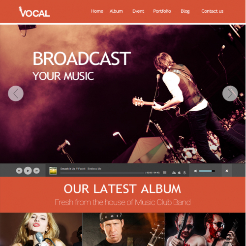 VOCAL Website Design