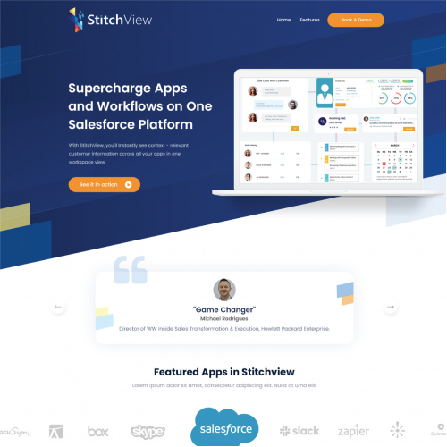 Stitch View website design