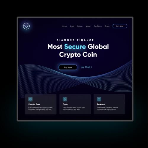 Crypto Website Visual Design