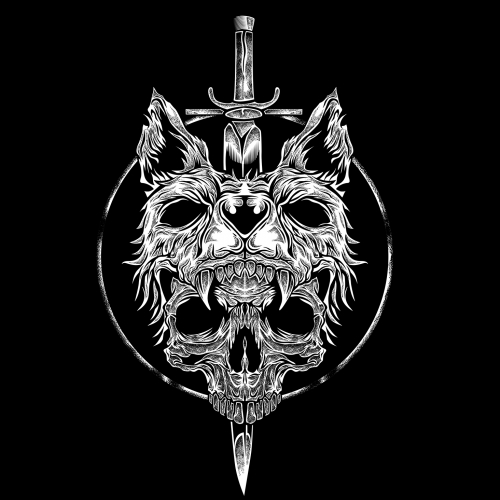 wolf n skull