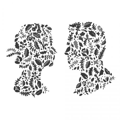 Couple doodle art