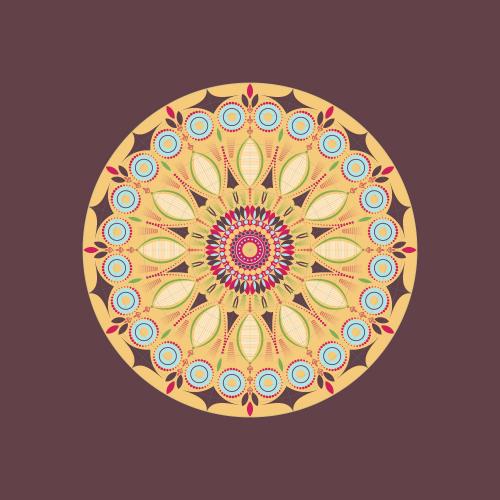 Round Colorful Mandala
