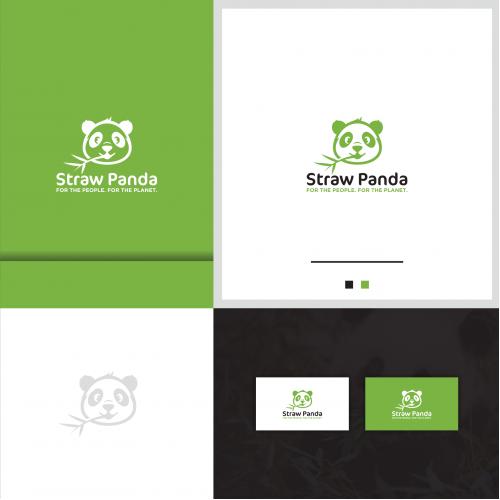 Straw Panda Logo And Business Card Design
